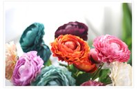 50pcs MOQ 9colors Realistic Spring Artificial Lotus Silk Flower Peony Arrangement Venda por atacado weddding ou Home Room Charming Decoration