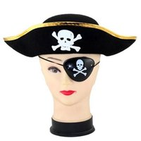 Wholesale Christmas Pirates Costume - Pirate Eye Patch Skull Crossbone Halloween Party Favor Bag Costume Kids Toy Cosplay Party Props CCA6976 3000pcs