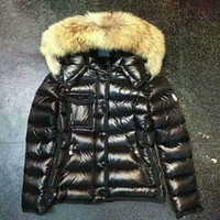 Wholesale Real Fur Suits - ME2 Luxury Brand Boys girls waterproof real raccoon fur collar jacket outwear winter french warm snow suit coat anorak children parka 002