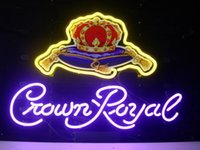 "Wholesale Crown Royal Neon Signs - 17""x14"" Crown Royal Whiskey Handcrafted Real Neon Sign Beer Bar Pub Light FAST SHIP"