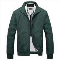размер мандарина воротник куртка оптовых-Wholesale- Plus Size 5XL Jacket Coat 2016 Hot Sale Spring Autumn Men's Solid Fashion Jacket Male Casual Slim Fit Mandarin Collar Jacket
