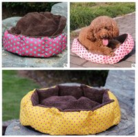 Wholesale Luxury Dog House Wholesale - Circular Dog Bed Warming House Pet Kennel Cat Dog High Quality Beds Luxury Cat Sofa Dog Nest Winter for Cat Pet Products