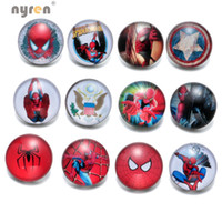 Alloy black button spider - KZ0369 Mixed styles mm snap button Jewelry spider man glass Snap Fit snap Bracelet Jewelry