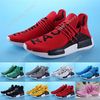 Wholesale Clear Plastic Men Shoe Box - Cheap sale Red Human Race With HU 2017 NMD Red Pharrell Williams Running Shoes With Box NMD Men Women Running Shoes Freeshipping Size 36-45