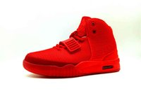 Wholesale kanye west red octobers online - red octobers shoes Kanye West II all red OCT basketball shoes women men sneakers US13 Michael Sports Version