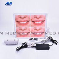Wholesale Endoscope Camera Lcd - 2017 new All in one intra Oral Camera System 500mega pixels 17inch LCD monitor with usb Dental endoscope With LCD holder
