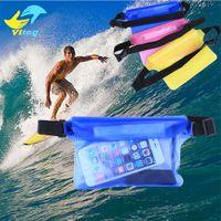 Wholesale Iphone Big Case - 21.5*15cm Waterproof Big Waist Case Cover For iphone 6 6s 7 7 plus Samsung s7edge S8 Plus Underwater Sports Bag