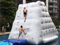 Wholesale Play Park Kids - inflatable iceberg water game playing on the park summer water toy many size for select Water rock climbing LLFA