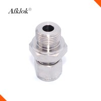 Wholesale forge fitting - Afklok high pressure Male Thread 316 Stainless Steel Fit 6mm OD Tube Coupler Adapter Connector Compression fitting