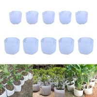 Wholesale Fabric Flowers Wholesale Price - White Non-Woven Fabric Reusable Soft-Sided Highly Breathable Grow Pots Planter Bag With Handles Cheap Price Large Flower 10 Size Optio