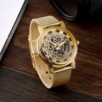 Wholesale Man S Wrist Watch - s Quartz Wristwatches SOXY Fashion Skeleton Watch Men Watch Luxury Stainless Steel Men's Watch Wrist watches Clock saat relogio mascu...