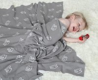 Wholesale Children Carpet - New small and pure and fresh Nordic children blanket cotton blanket, knitted carpet Throw blankets Child air conditioning blanket bath towel