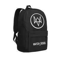 Wholesale Dog Hiking Bag - Children School Bags Oxford Bag Watch Dog Knapsack Game Backpack Men Oxford Shoulder Bags for Students Hiking Bag Black Large Capacity Bag