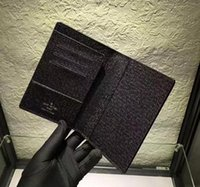 Wholesale Brand Passport - New Brand Passport Holder Luxury Brand Name credit Card Holder Genuine Leather passport holders High Quality M60181 N60189 M63189 N60032