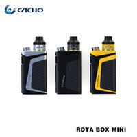 Wholesale Mini Max - Original IJOY RDTA BOX Mini Kit 6ml Capacity 2600mAh Battery Max 100W Wattages 100% e cig VAPE