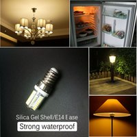 Wholesale E17 Base Led Bulbs - 64PCS LED Bead Waterproof E14 E17 Base SMD 3014 3W Silicon Corn LED Crystal Light Corn Bulb Chandelier Warm Pure White Color
