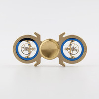 Wholesale Swiss Style Watches - New Swiss watch movement Styles Tri-Spinner Fidget Toy Brass Hand Spinner with R188 Bearing Stress Reducer Relieve Anxiety