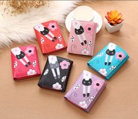 Atacado Cheap Candy Color Short Feminino PU Leather Wallet The Tower Cartoon carteiras Para estudantes Mulheres Carteiras e bolsas