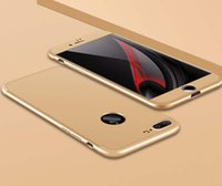 iphone geri koruyucusu mat toptan satış-Buzlu 360 Derece Mat PC telefon kılıfı için iPhone 7 / Artı 6/6 s Artı ekran koruyucu ile tam kapak kılıfları Arka Telefon kapak