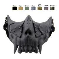 máscara de media cara del cráneo del airsoft al por mayor-Máscara del cuerpo del desierto Equipo de protección facial Airsoft Equipo de tiro al aire libre Máscara de cráneo táctico Airsoft de media cara NO03-108