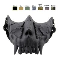 Wholesale Shot Skull - Desert Corps Mask Outdoor Face Protection Gear Airsoft Shooting Equipment Half Face Tactical Airsoft Skull Mask NO03-108
