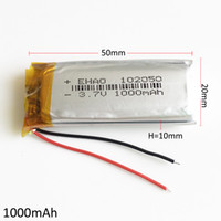 Wholesale li polymer battery for tablets for sale - Group buy 102050 V mAh Lithium Polymer Li Po Rechargeable Battery For DVD smart watch PAD Tablet PC Power bank mobile phone