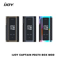 100% Original IJOY Captain PD270 Box Mod Vape 234W NI / TI / SS TC Electronic Cigarette Vaper Power by Dual 20700 Bateria vape mod