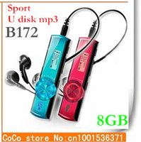 Wholesale Cheap 8gb Usb Drive - Wholesale- Cheap New Arrival 8GB Sport mp3 players 8 colors FM-radio Digital Screen MP3 Music Player Pen USB Flash Drive B172F