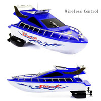 Wholesale Toy Electric Speed Boat - Ship Powerful Double Motor Radio Remote Control Racing Speed Electric Toy Model Ship Children Gift Boats Control Vehicles toys