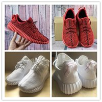 Wholesale Winter Milan - 2017 Cheap Wholesale Y boots 350 Kanye Milan West Y Boost 350 Classic Pink Red 350 Men's Women's Fashion Trainers Shoes Black Red