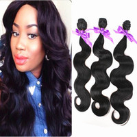 Wholesale Cheap Synthetic Hair Weave - cheap 3bundles Body Wave Hair weave Fiber natural color 1B High Temperature Hair Weaving Luxury Synthetic Hair Extensions weft