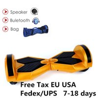 Wholesale Wholesale Electric Scooter Usa - Free TAX EU USA CE UL RoHS Hoverboard Bluetooth Bag LED Scooter Two Wheels 8 inch Self Balancing Wheel Smart Scooters Electric Skateboard