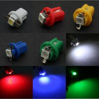 100PCS T5 B8.5D 1SMD Jauge de voiture 5050 LED Speedo Dashboard Dash ampoule 12V ampoule lampe de table en gros