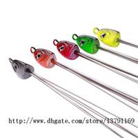 ingrosso girevole ombrello-Pesca Alabama Umbrella Rig Multicolor Jig Head Sea Fishing Lure Bait con 5 Wires girevoli
