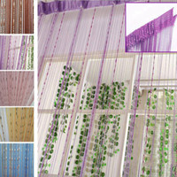 Wholesale Room Screen Divider - Hot Selling 1Pc Chain Beads Fringe String Curtain Door Window Room Screen Divider Sheer Curtain Valance 200*100CM JI0247