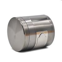 chrom kräuterschleifer großhandel-Multi Functional ZINK Legierung CNC Metall Herb Tobacco Grinder 4 Teile 63 MM 2,48
