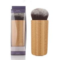 Wholesale High Quality Kabuki - 100pcsTarte Airbuki Kabuki Bamboo Powder Foundation Brush High Quality Soft Versatile Makeup Brushes with retail box in stock