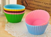 Wholesale cake case tool for sale - Group buy Silicone cm Round Shape Silicone Muffin Cases Cake Cupcake Liner Baking Mold colors Choose Freely