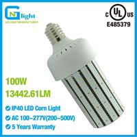 Wholesale F Rohs - 100 Watt (6000K) Daylight LED Corn Bulb Light 13442 Lumens,360 Degree E39 Mogul Screw Base For Wall Lighting Wall Pack Gas Station Shoebox F