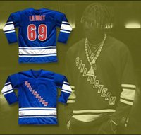Wholesale Boat Names - Lil Yachty Lil Boat 69 Sailing Team Hockey Jersey Mens Embroidery Stitched Customize any number and name Jerseys