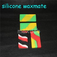 Wholesale Small Container Wholesalers - smaller Waxmate Containers Big Silicone Rubber Silicon Storage Square Shape Wax Jars Dab Concentrate Tool Dabber Oil Holder silicone bong
