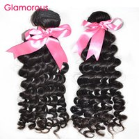 Wholesale Good Virgin Brazilian Remy Hair - Glamorous Brazilian Virgin Hair 2 Bundles Curly Hair Weave Natural Color Double Weft Good Quality Virgin Peruvian Malaysian Indian Hair Weft