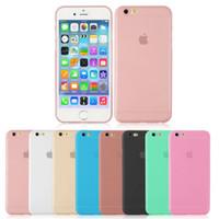 ingrosso iphone 4.7 silicio-Custodia TPU per iPhone 6 / 6s 4.7 'Cover rigida per iPhone 6 / 6s Plus 5.5' Custodia morbida in silicone per 0,18 mm