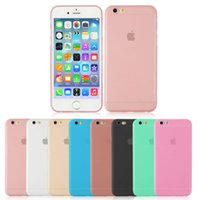 Wholesale Mm Soft Case Iphone - For iPhone 6 6s 4.7' iphone 6 6s Plus 5.5' TPU Case Soft Silicon 0.18 mm Micro Matte Cover
