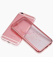 Wholesale Cheap Case Iphone Diamond - Cheap Peacock Phone Covers Simple Luxury Diamond Case Ultra-thin Creative Fashion Female All-inclusive Design Dirt-resistant Rhinestone Case