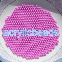 Wholesale Solid Color Plastic Beads - 2 MM Solid Color Acrylic Opaque Round No Hole Beads Plastic Small Balls for Art Craft 10000 pcs