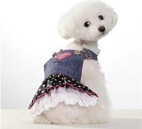 Wholesale Xs Pet Wedding Dress - 5pc lot Hot Sale New arrival spring summer pet dog clothes Pet Outerwears Jean dress,Pet Skirt XS-XL