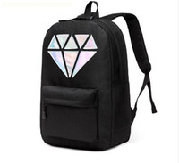 Wholesale Holographic backpacks for teenage girls mochila escolar feminina diamond backpack Students school bags for girls