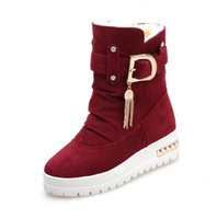 Wholesale Black Diamond Ankle Boots - Winter new women 's snow boots in the tube diamond thickening cotton boots wild flat tide shoes