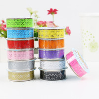 Venta al por mayor 2016 1Pc Washi Tape Set Styles Masking Tape Japonés Kawaii Adhesive Lace Vintage Diy Scrapbooking Washitape Pegatinas Decoración